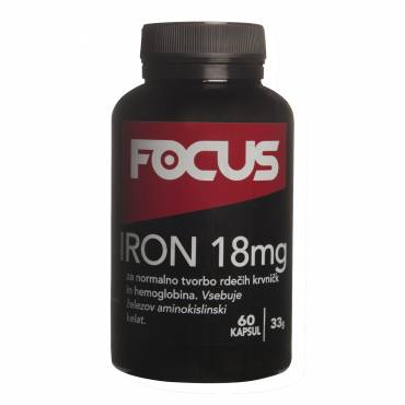 FOCUS IRON 18 mg 60 kaps.