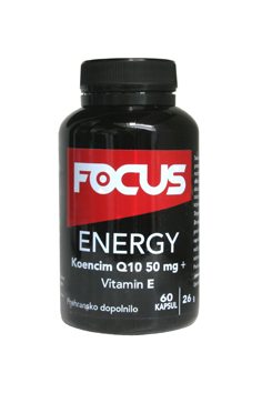 FOCUS Energy Q10 50mg  + Vitamin E 60 kapsul